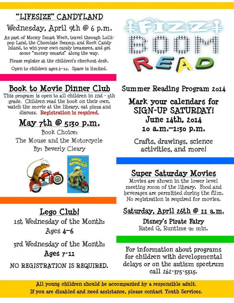 Spring Newsletter 2014 updated for april page 2