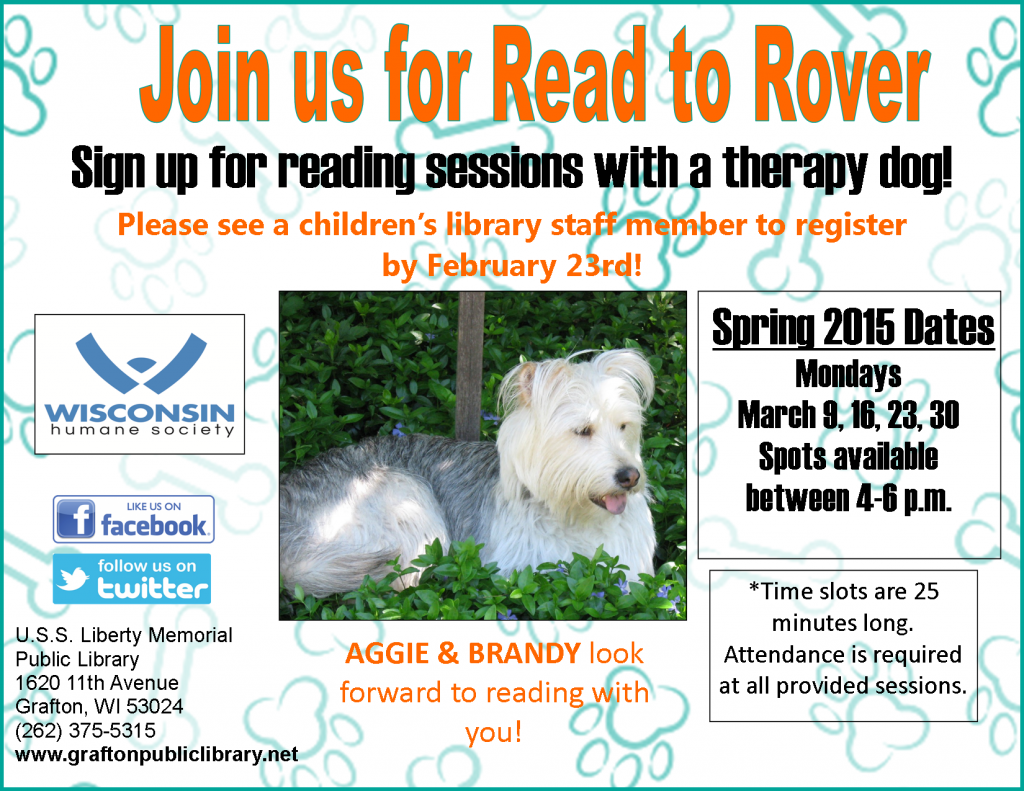 Read to Rover Spring 2015