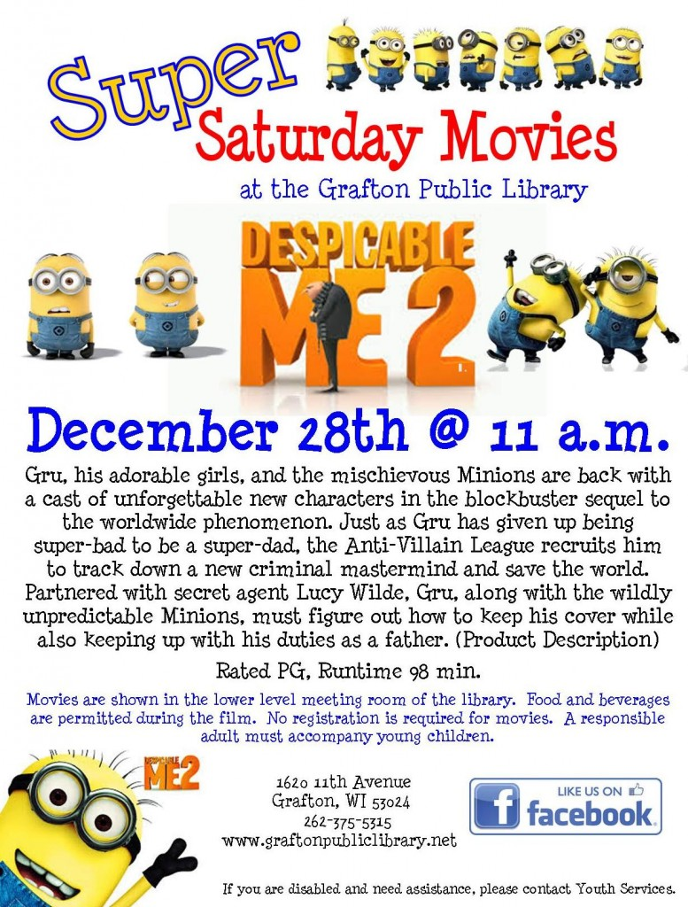 Super Saturday Movie - Despicable Me 2