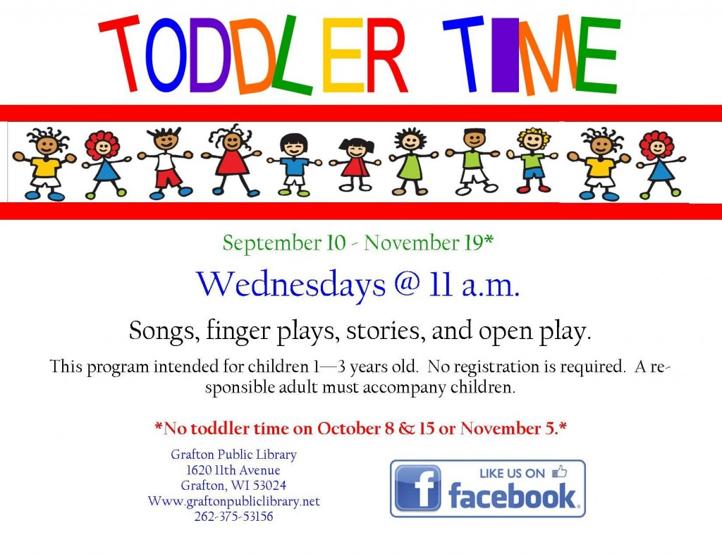Toddler Time Fall 2014 New dates