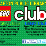 LEGO Club  Wednesday, March 4  at 4:00 PM
